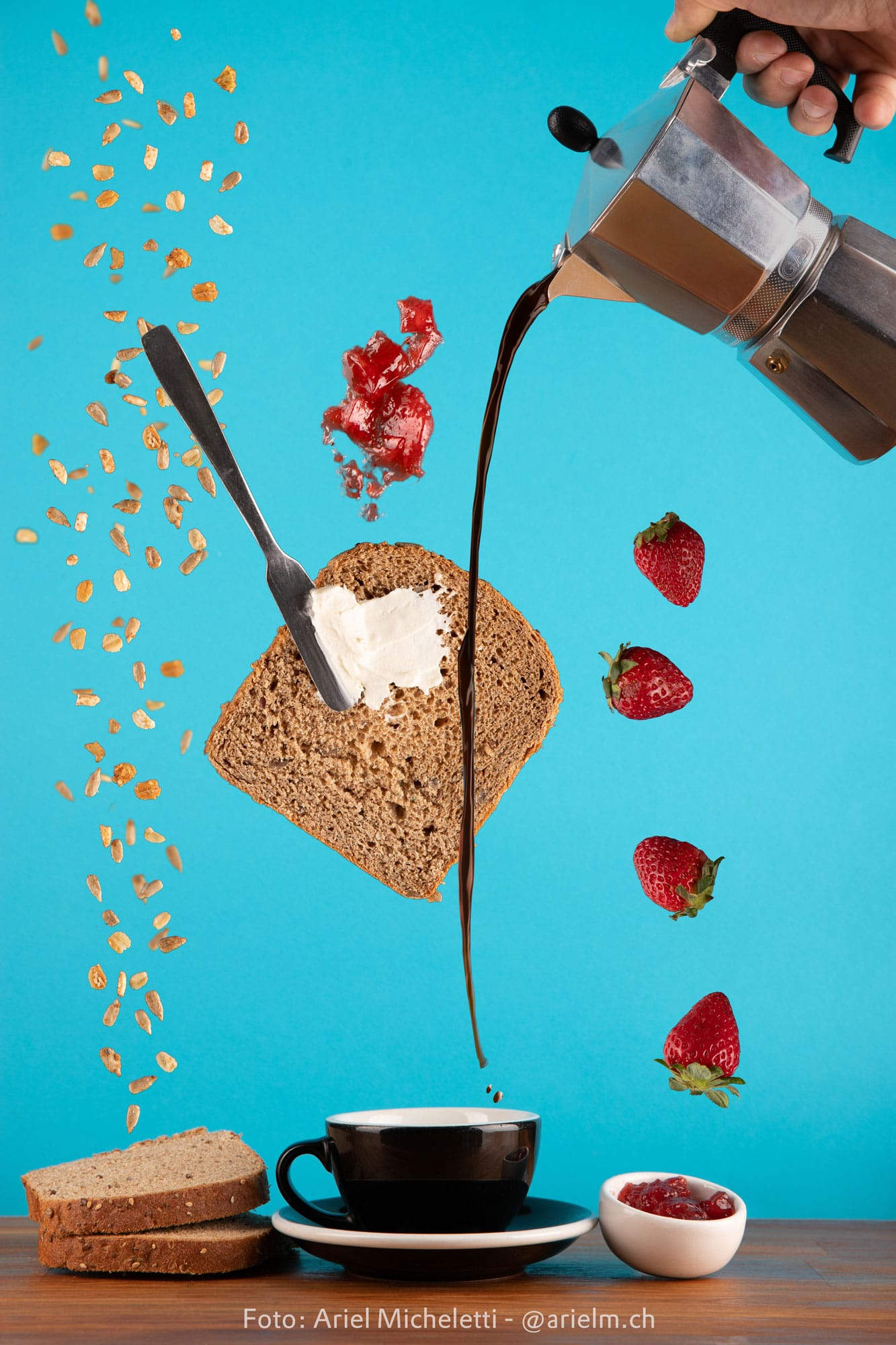 Fotografía publicitaria - Desayuno liviano