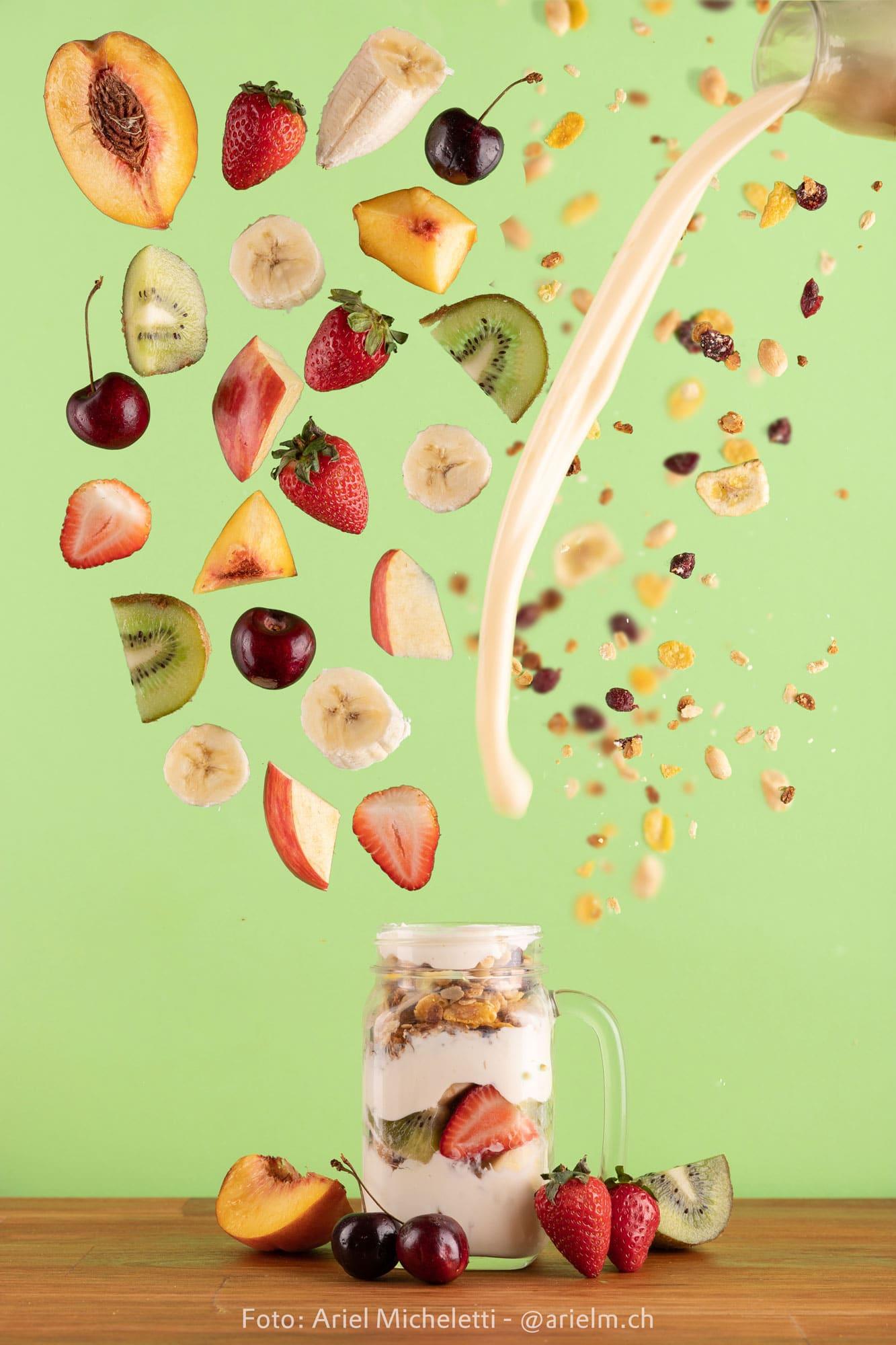 Fotografía publicitaria - Desayuno natural